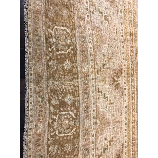 "Vintage Turkish Oushak Rug - 6'10"" x 11'7"" - Image 4 of 8"