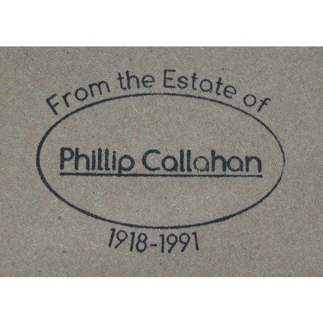 "Phillip Callahan ""Green & Orange"" Painting - Image 3 of 3"