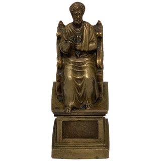 Grand Tour Bronze of St. Peter After Arnolfo DI Cambio For Sale