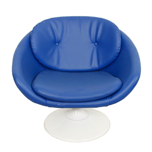 Blue 60s Swivel Pod Chair by Overman of Sweden - Image 1 of 10