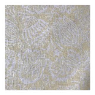 Elizabeth Eakins Yellow & White Linen Fabric- 8 Yards