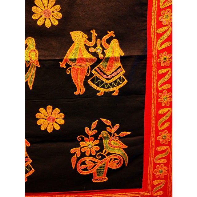 Ethnic Indian Embroidered Tapestry - Image 4 of 6
