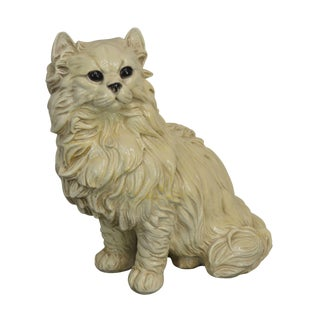 Persian Cat 1960's Vintage Larger Than Life Size Statue For Sale