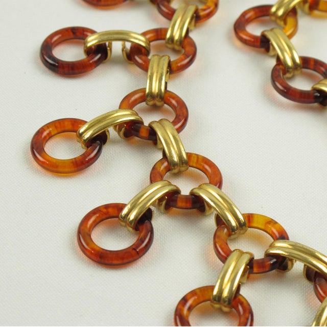 Yves Saint Laurent Paris Tortoise Lucite Brass Necklace Waist or Hip Belt For Sale - Image 9 of 10