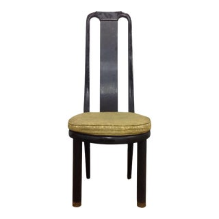 Henredon Asian Modern Black Lacquer Chair