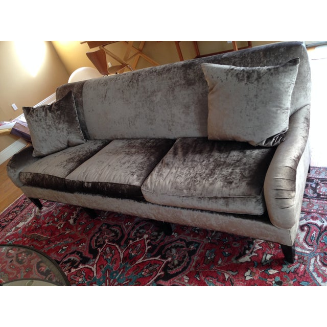 Hickory Chair Emory Sofa in Silver/Grey Velvet - Image 3 of 4
