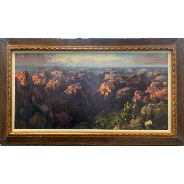 "Late 20th Century Segundo Huertas Original Oil Painting, ""Canyon"" For Sale - Image 5 of 9"