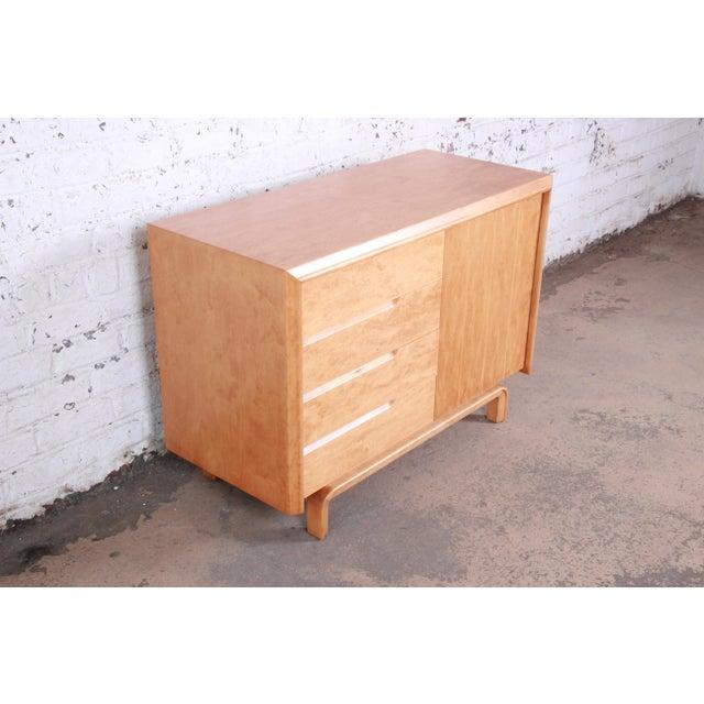 Edmund J. Spence Edmond Spence Swedish Modern Maple Sideboard Credenza, Newly Refinished For Sale - Image 4 of 13