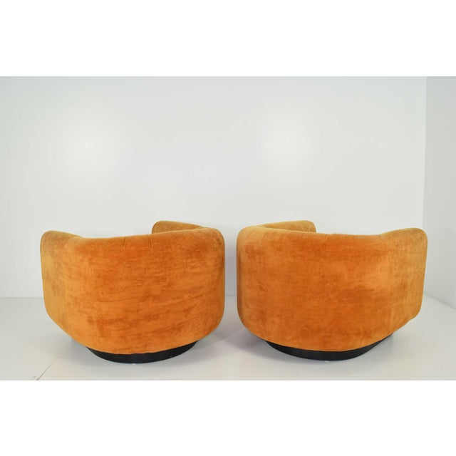 Pair of Milo Baughman Style Lounge Chairs by Metropolitan Furniture - Image 6 of 9