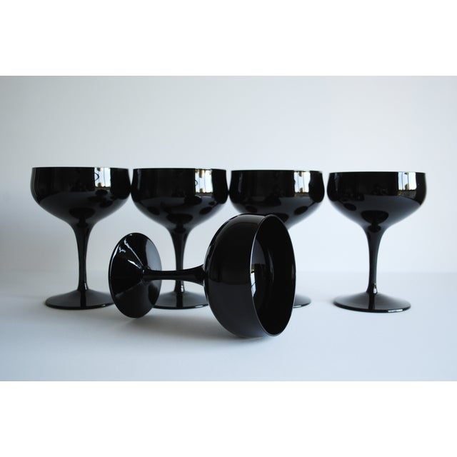 Vintage Black Cocktail Coupes - Set of 5 - Image 5 of 5