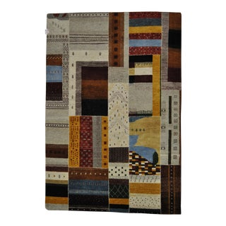 "Patchwork-Like Abstract Designed Area Rug - 5'6"" X 8'1"" For Sale"