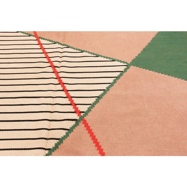 Pink Antonin Kybal Vintage French Deco Rug - 9′6″ × 13′ For Sale - Image 8 of 10