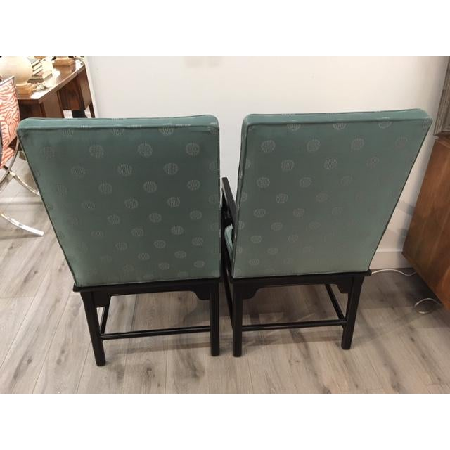 Pair Asian Style Chairs For Sale - Image 4 of 7