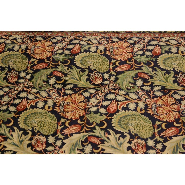 Textile Art Nouveau Pak-Persian Caridad Blue/Red Wool Rug - 4'7 X 7'1 For Sale - Image 7 of 8