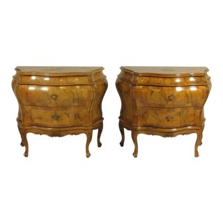 Early 20th Century Italian Bombe Commodes - a Pair For Sale