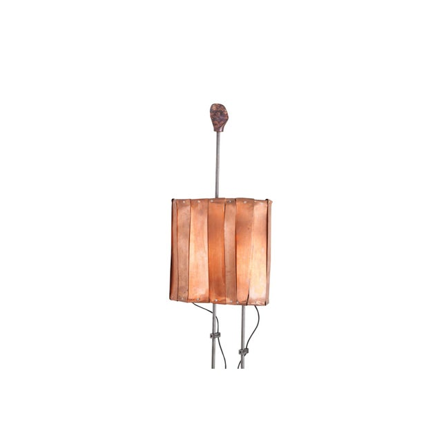 Metal Contemporary Floor Lamp by Belgian Artist Thomas Serruys For Sale - Image 7 of 8