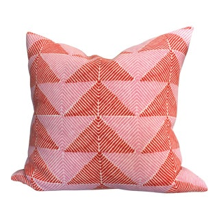 "John Robshaw Pink & Orange Peak Decorative Pillow 20""x20"""