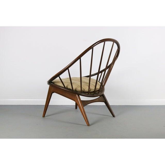 1950s Ib Kofod-Larsen for Selig Hoop Chair - Peacock Chair, Denmark For Sale - Image 5 of 5