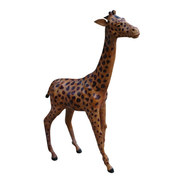 Vintage Leather Giraffe - Image 1 of 4