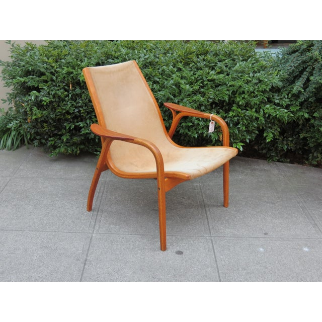 Mid-Century Modern Mid Century Modern Mini-Lamino Leather Chair For Sale - Image 3 of 7