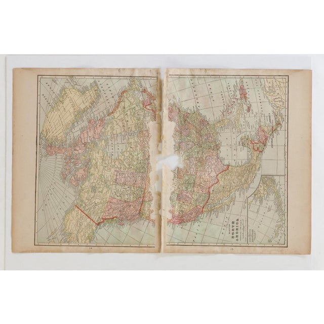 Old New House Cram's 1907 Map of North America For Sale - Image 4 of 9