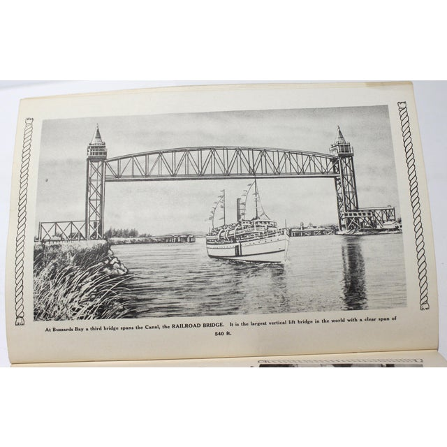Vintage Cape Cod Souvenir soft-cover book which includes an Auto Map and a picture of the Buzzard's Bay Railroad Bridge,...