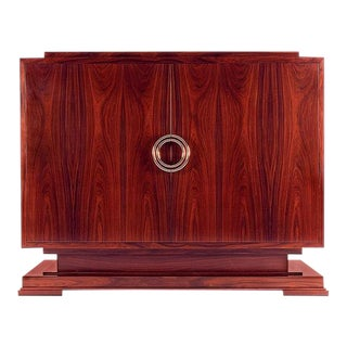 Art Deco Macassar Ebony Odeon Cabinet For Sale