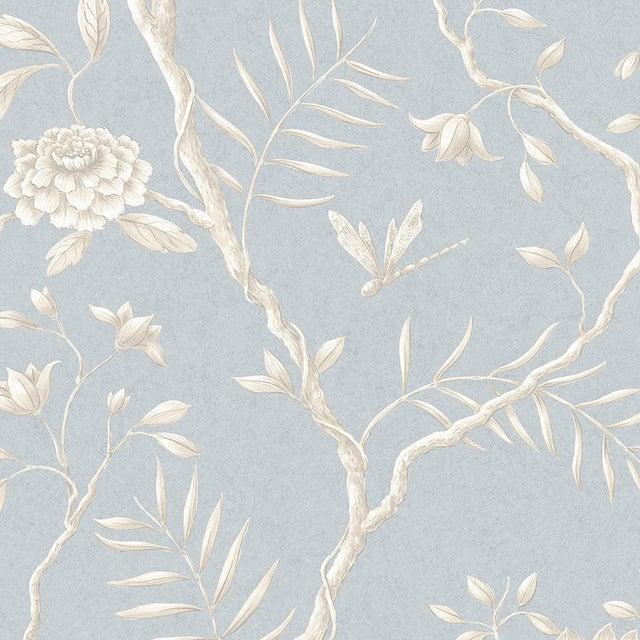 Lewis & Wood Jasper Peony Cirrus Botanic Style Wallpaper Sample For Sale - Image 4 of 4