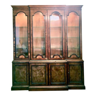 Henredon 18th Century Collection China/Display Cabinet in Yew For Sale