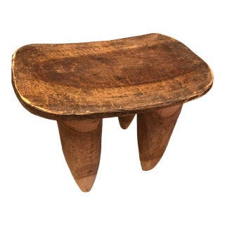 Senufo Tribe Hand Carved Wood Stool For Sale