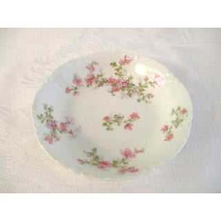 1920s French Limoges Pink Floral Serving Pieces - a Pair Preview