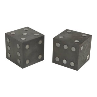 Oversized Steel Dice Side Tables