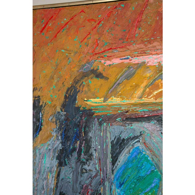 1980s Oil on Canvas Abstract by John McNamara, American For Sale - Image 5 of 8