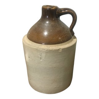 Antique Stoneware Pottery Jug For Sale