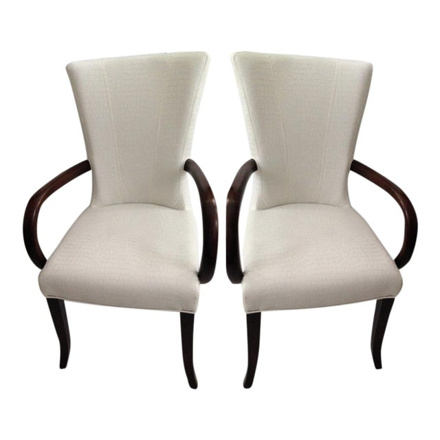 Super Faux Crocodile Leather Italian Accent Chairs A Pair Creativecarmelina Interior Chair Design Creativecarmelinacom