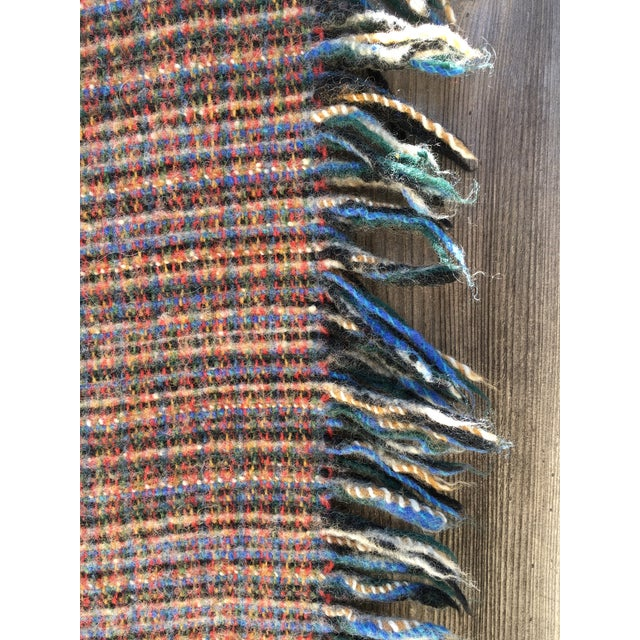 "Vintage Wool ""Rainbow"" Blanket - Image 3 of 6"