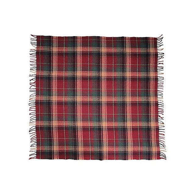 Vintage Plaid Picnic Blanket - Image 2 of 2