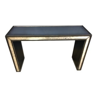 Century Modern Mirrored Console Table For Sale