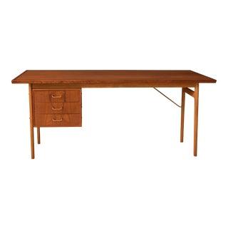 1960s Danish Modern Torben Strandgaard Teak Writing Desk For Sale