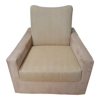 Modern Classic Gallery Swivel Club Chair For Sale