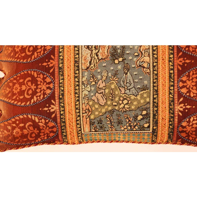Burnt Orange Middle Eastern Decorative Throw Pillow For Sale - Image 8 of 11