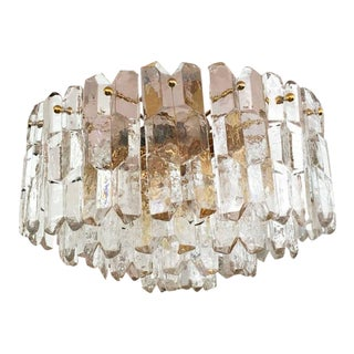 Large Palazzo Frosted Glass Chandelier by JT Kalmar, 1970s For Sale