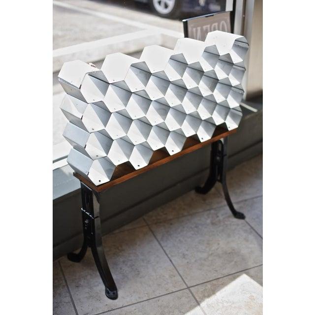 Galvanized Honeycomb Wine Rack - Image 2 of 4