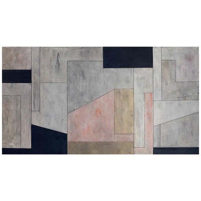 "Stephen Cimini ""Onyx Meets Selenite"" Oil on Canvas Artwork For Sale"
