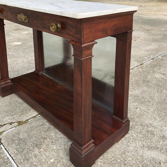 Mid 19th Century 19th Century French 2nd Empire Period Marble Top Console For Sale - Image 5 of 11