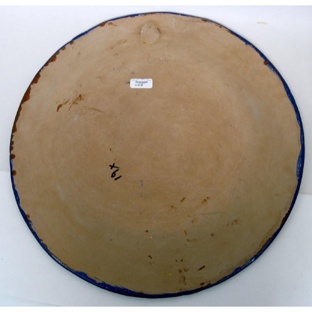 Early 21st Century Large Mexican Ceramic Plate For Sale - Image 5 of 7