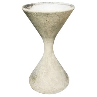 French Cast Cement Diabolo Planter For Sale