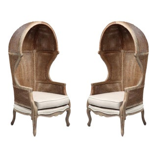 Cain Dome Chairs- a Pair
