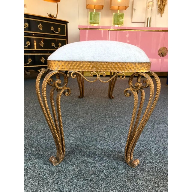 Gold Bench Iron Gold Leaf by Pier Luigi Colli, Italy, 1950s For Sale - Image 8 of 12