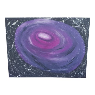 Extra Large Original Abstract Galaxy Milky Way Nebula Oil Painting Signed